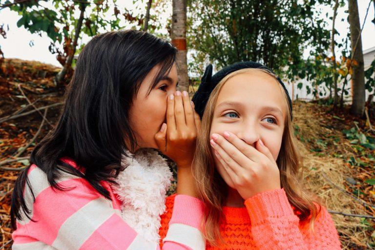 secret, two girls, woods, shocked