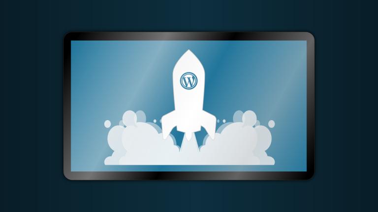 wordpress rocket animation